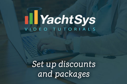 How to set up standard discounts like multiple-week, last-minute and early-booking in YachtSys?