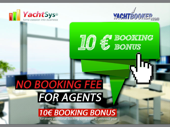 Continued Growth - NO MORE Agent Booking Fees - 10 € Booking Bonus