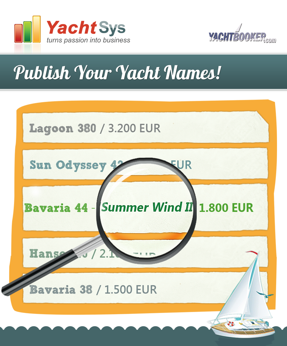 Publish your yacht names in order to sell better!